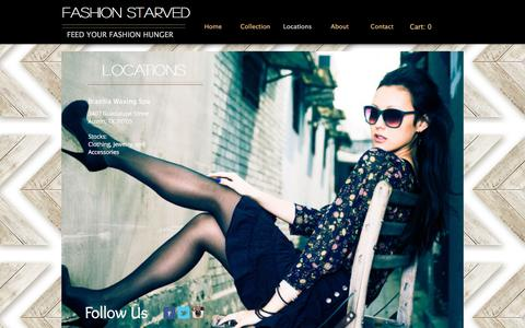 Screenshot of Locations Page fashionstarved.com - fashionstarved | Locations - captured Nov. 25, 2016