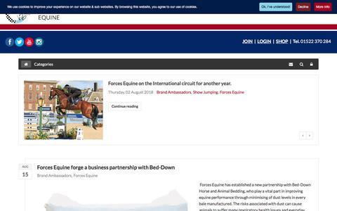Screenshot of Blog forcesequine.com - Recent blog posts - Forces Equine World - captured Aug. 19, 2018