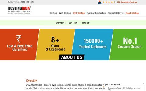 Screenshot of Team Page hostingraja.in - About HostingRaja - captured Feb. 15, 2019