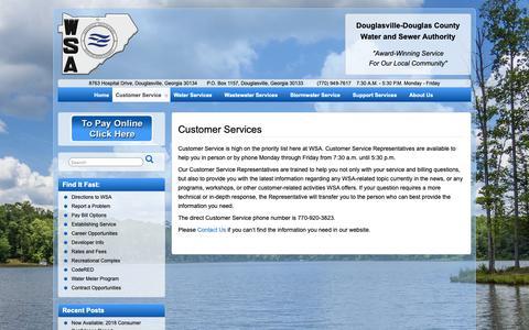 Screenshot of Support Page ddcwsa.com - Customer Services – DDCWSA.com - captured Dec. 19, 2018