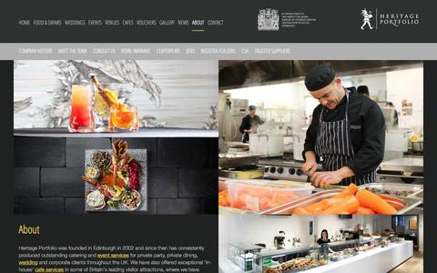 Screenshot of About Page heritageportfolio.co.uk - About :: Heritage Portfolio - captured Jan. 29, 2016