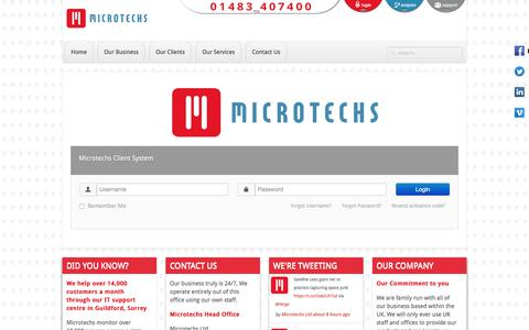 Screenshot of Login Page microtechs.co.uk - Welcome to Microtechs - captured Sept. 20, 2018