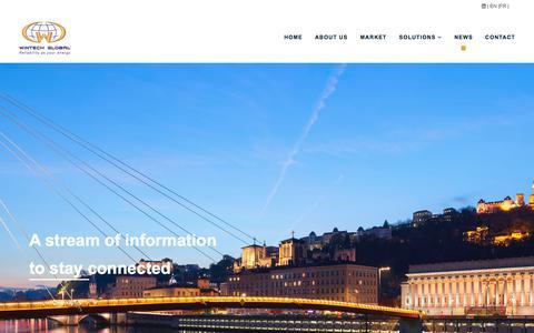 Screenshot of Press Page wintech-global.net - News - Wintech Global - captured June 13, 2017