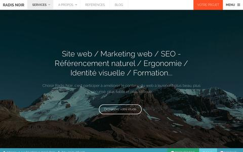 Screenshot of Services Page radisnoir.com - Agence Web Paris Radis Noir -  Emarketing, Site internet, Audit, Ergonomie, SEO, etc. - captured Nov. 23, 2015