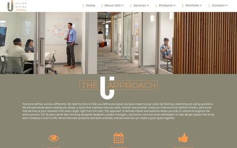 Screenshot of Services Page unionofficeinteriors.com - Our Approach - Union Office interiors - captured Aug. 11, 2016