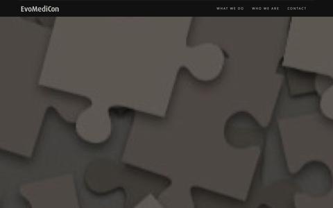 Screenshot of Home Page evomedicon.com - EvoMediCon - captured Oct. 3, 2014