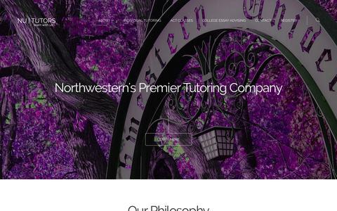 Screenshot of Home Page nututors.com - NU Tutors | Northwestern's Premier Tutoring Company - captured Sept. 30, 2014