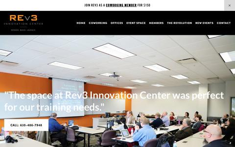 Screenshot of Contact Page rev3dupage.com - Naperville's Coworking Space | Rev3 Innovation Center | Rev3 Innovation Center | Naperville Innovation Center | Naperville Coworking Space | DuPage County Tech Startup Hub - captured Nov. 10, 2017