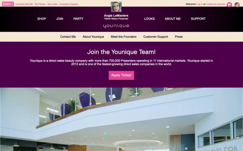 Screenshot of Jobs Page youniqueproducts.com - Join the Team - captured Nov. 2, 2018