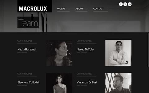 Screenshot of Team Page macrolux.net - Team - Macrolux - captured Oct. 3, 2014