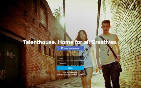 Screenshot of Login Page talenthouse.com - Talenthouse - captured Nov. 5, 2015