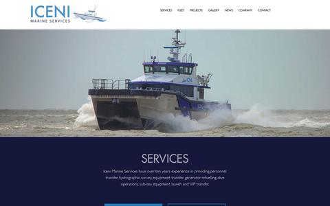 Screenshot of Services Page icenimarine.co.uk - ICENI Marine | Services | Personnel & Equipment Transfer - captured Oct. 14, 2017