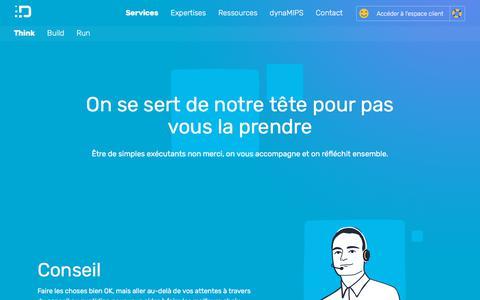 Screenshot of Services Page dynamips.com - dynaMIPS | Conseil et Services informatiques | PME - captured Aug. 9, 2018