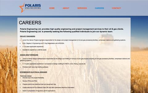 Screenshot of Jobs Page polariseng.com - Polaris Engineering Ltd. - Careers - captured Nov. 8, 2016