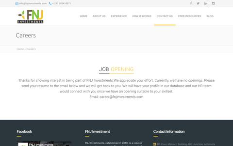 Screenshot of Jobs Page fnjinvestments.com - Careers - FNJ Investment - captured Aug. 9, 2018