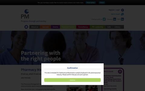 Screenshot of Home Page pharman.co.uk - Pharmacy Management - captured Jan. 27, 2016