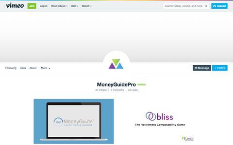 MoneyGuidePro on Vimeo