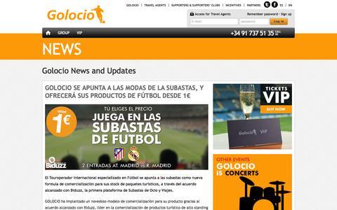 Screenshot of Press Page golocio.com - News - Football and tourism at the best price - Golocio.com - captured Sept. 27, 2014