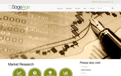 Screenshot of sageagestrategies.com - Market Research | Sage Age Strategies - captured June 23, 2017