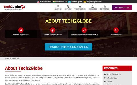About Tech2Globe - Web Mobile Software Development Company