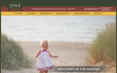 Screenshot of Home Page folkagency.com - folkagency.com | - captured Jan. 8, 2016