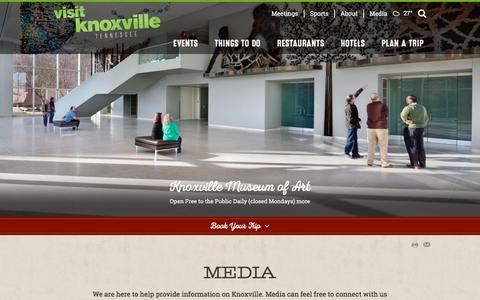 Screenshot of Press Page visitknoxville.com - Visit Knoxville Media | Photos & Videos - captured Jan. 23, 2016