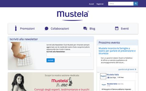 Screenshot of Login Page mustela.it - Mustela Club | - captured March 19, 2017