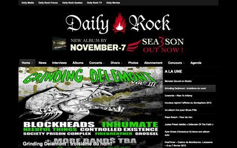 Screenshot of Home Page daily-rock.com - Daily Rock - Toute l'actualité du rock en Suisse - captured Jan. 28, 2015