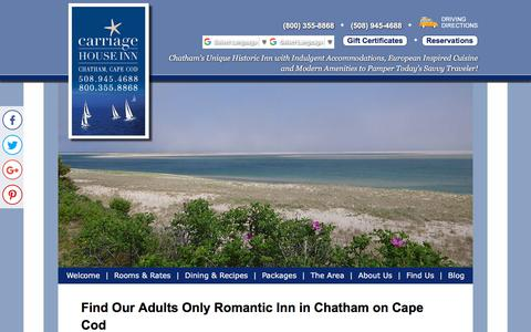 Screenshot of Contact Page Maps & Directions Page thecarriagehouseinn.com - Directions from Boston to Chatham in Cape Cod - captured July 3, 2018