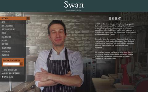 Screenshot of Team Page loveswan.co.uk - Our Team - The Swan - captured Oct. 7, 2014