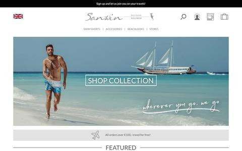 Screenshot of Home Page sanwinbeachwear.com - Sanwin | Sanwin Beachwear - captured May 27, 2017