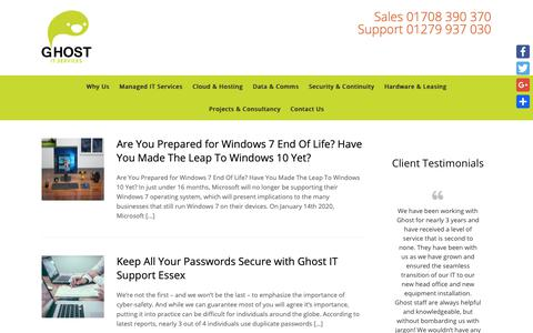 Screenshot of Blog ghostservices.co.uk - Blog Archives - Ghost IT Support Services For Essex - captured Sept. 28, 2018