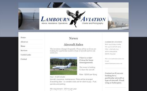 Screenshot of Press Page lambournaviation.com - Lambourn Aviation - News - captured May 14, 2017