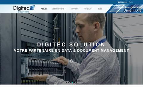 Screenshot of Home Page digitec.be - Homepage - Digitec - captured Nov. 14, 2018