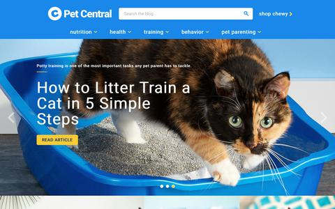 Screenshot of Blog chewy.com - Home — Pet Central by Chewy.com - captured March 5, 2019
