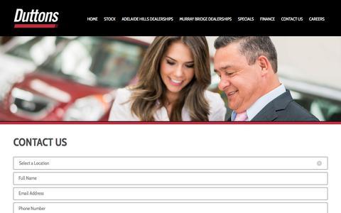 Screenshot of Contact Page duttons.com.au - Contact Us - Duttons Automotive - captured Oct. 13, 2017