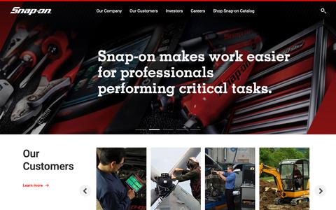 Screenshot of Home Page snapon.com - Snap-on Incorporated - captured March 22, 2019