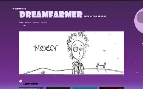 Screenshot of Home Page dreamfarmer.com - DreamFarmer | DreamFarmer is an interactive design and development studio; we specialize in games and applications for every major platform (PC, Web, Mobile, Facebook, etc), developing independent and per-client projects. - captured Sept. 30, 2014