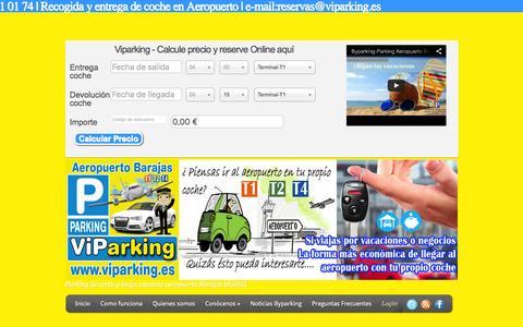 Screenshot of Login Page byparking.es - Parking Larga estancia Aeropuerto barajas   Viparking-Parking Aeropuerto Barajas low cost - captured Jan. 7, 2016