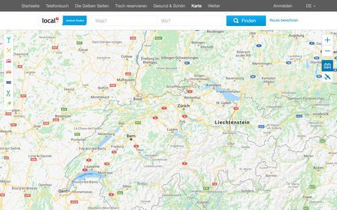 Screenshot of Maps & Directions Page local.ch - Schweizer Landkarte von local.ch - captured Oct. 23, 2018