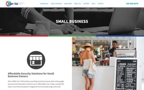 Screenshot of Testimonials Page ener-tel.com - Small Business | Ener-Tel Services - captured Sept. 28, 2018