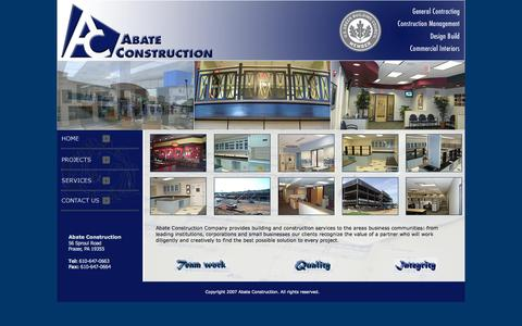 Screenshot of Home Page abateconstruction.com - Abate Construction - captured Jan. 23, 2015