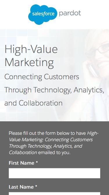 High Value Marketing