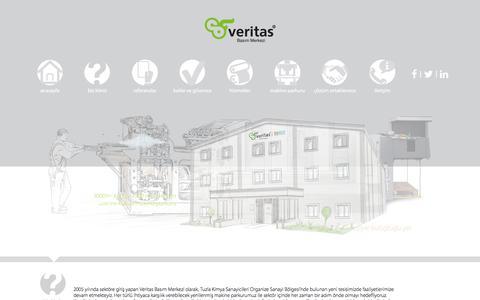 Screenshot of Home Page veritasbaski.com.tr - Veritas - captured Dec. 12, 2016