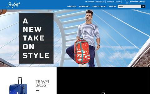 Screenshot of Home Page skybags.co.in - Skybags Online Store -  Travel in Style - captured June 18, 2015