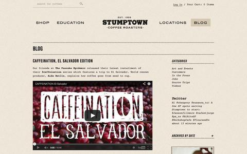 Screenshot of Press Page stumptowncoffee.com - News - Stumptown Coffee Roasters - captured Sept. 24, 2014