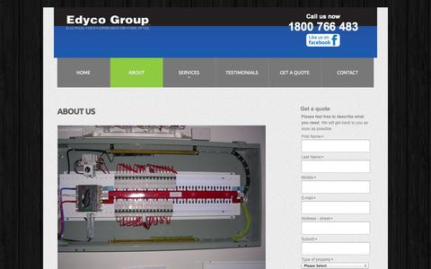 Screenshot of About Page edycogroup.com.au - Edyco Group - About us - captured Oct. 2, 2014