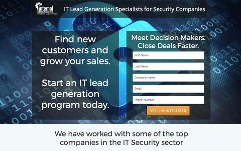 Screenshot of Landing Page internalresults.com - IT Lead Generation For Security Companies - captured July 23, 2017