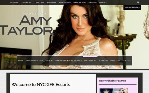 Screenshot of About Page nycgfe.com - New York Escorts - captured Nov. 3, 2014