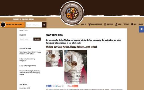 Screenshot of Blog crazycups.com - Crazy Cups Blog    - captured Sept. 30, 2014